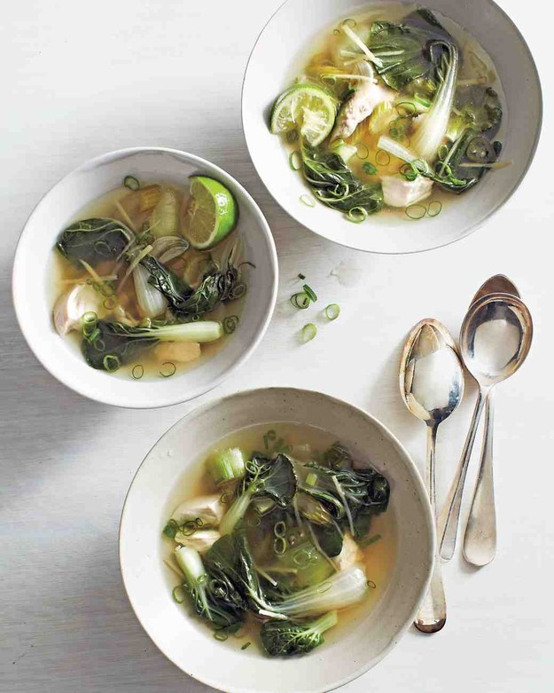 how to make bok choy in soup