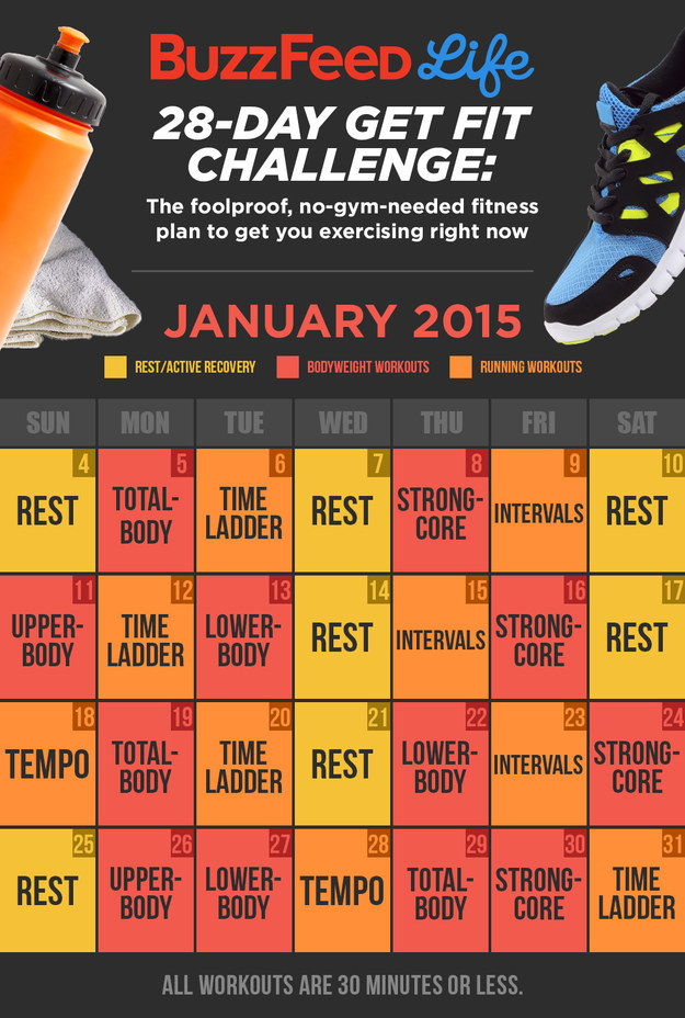 Here s your calendar  Take BuzzFeed s Get Fit Challenge Then Take Over The  World. Here39s Your Chance   jobs4education com